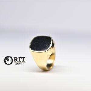 טבעת זהב אוניקס 2