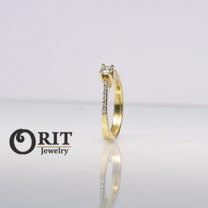 טבעת יהלום עיצוב אישי 9