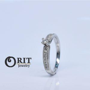 טבעת יהלום- R-R14955