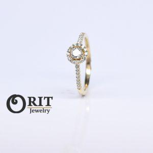 טבעת יהלום 87710