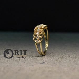 טבעת יהלום 95650