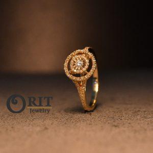 טבעת יהלום 97243