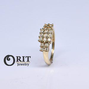 טבעת יהלום 93741