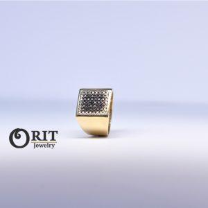 טבעת יהלומים שחוריםJ51402576IL