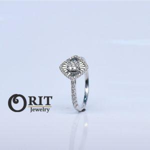 טבעת יהלום R9135/DW