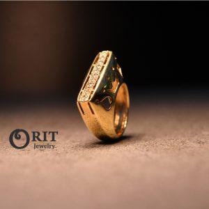 טבעת יהלום  18K