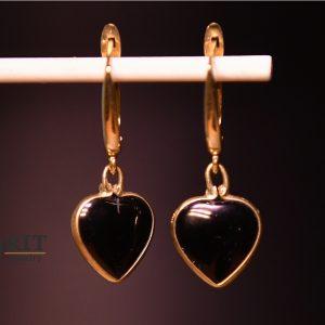 עגיל לב זהב אוניקס