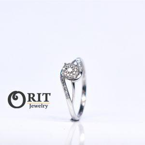 טבעת יהלומים 525618