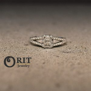 טבעת יהלום 80573