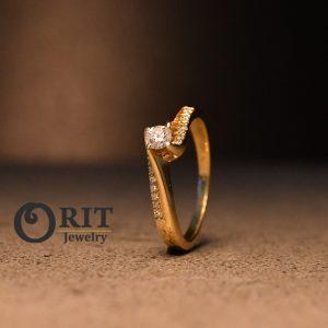 טבעת יהלום 15622