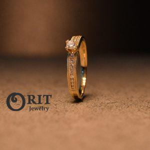 טבעת יהלום 85434