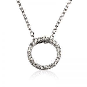 שרשרת יהלומים מעגל החיים Nd2685