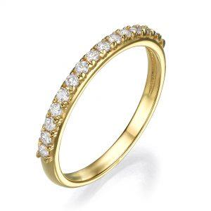 טבעת יהלומים שורה Rd7909